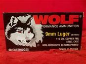 Wolf 9mm 115gr Steel Case Ammo